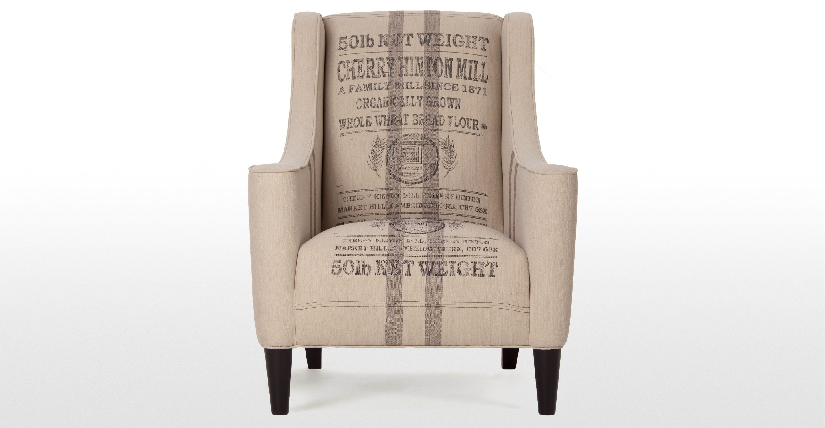 Juke Armchair In Wheat Sack Hessian | Made.com · Designer ArmchairsDesigner  ChairChair SaleGrain ...