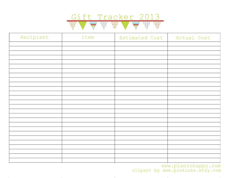 Save Your Sanity with a Christmas Gift Planner {Free Printable ...