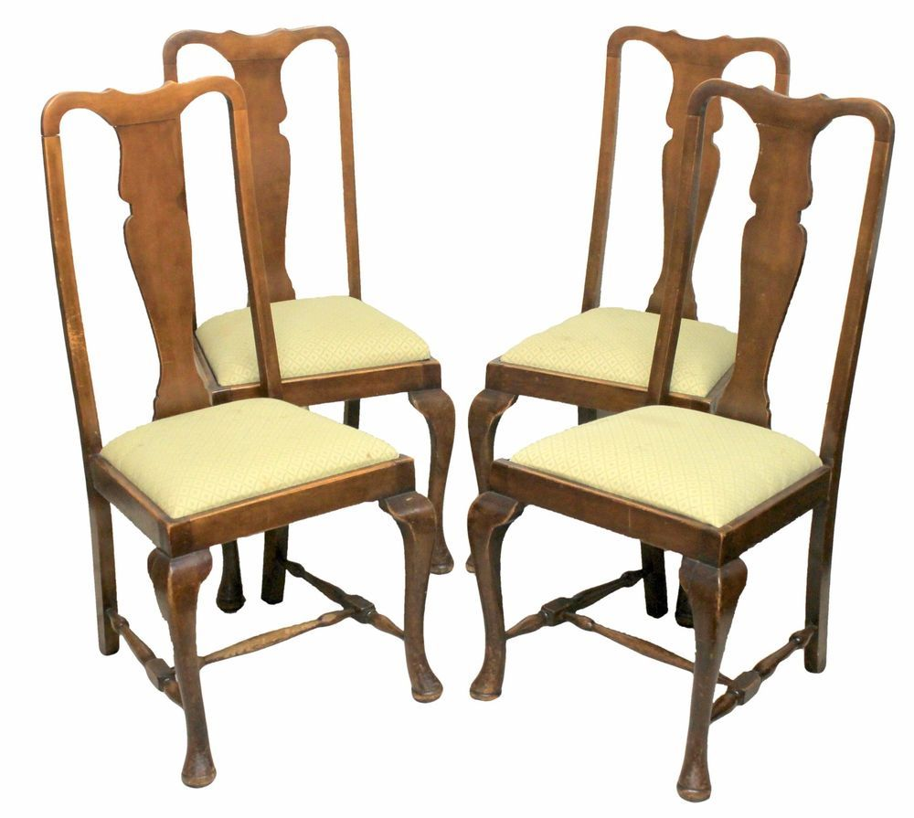 Victorian Antique Fiddle Back Dining Chairs with Mahogany Frames & Padded  Seats in Antiques, Antique Furniture, Chairs | eBay - Victorian Antique Queen Anne Style Fiddle Back Dining Chairs With