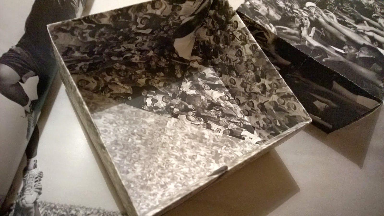 Origami box, magazine paper