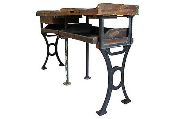 Antique Jewelers Work Bench Vintage Cast Iron And Rustic