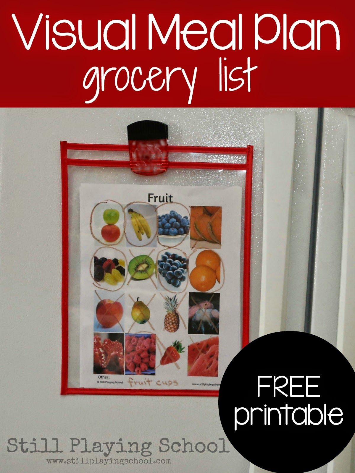 Visual Grocery Lists For Kids
