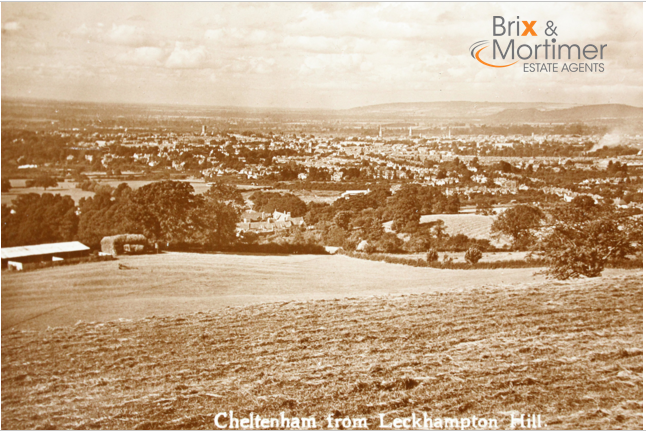View from Leckhampton Hill Circa 1914 *************************************** Brix and Mortimer | Cheltenham Estate Agents | Period Pictures Collection | ☎ 01242 898 746