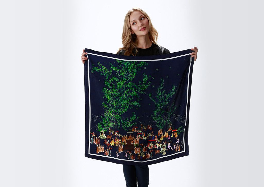 Really Outlet 100% Guaranteed Silk Square Scarf - wavy by VIDA VIDA Find Great Cheap Price Free Shipping Footlocker High Quality Sale Online qWwpdLxrv