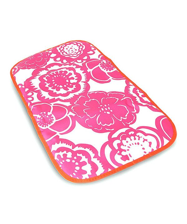 Look at this Ju-Ju-Be Fuchsia Blossoms Memory Foam Changing Pad on #zulily today!