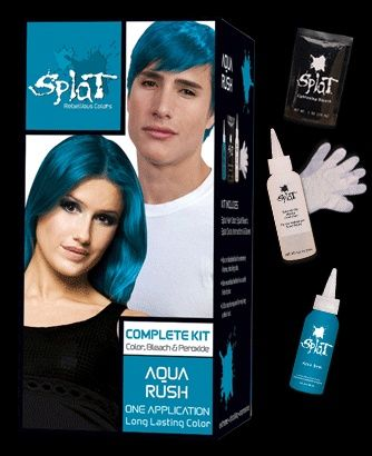 Splat Complete Color Kits In Aqua Rush I Dip Dyed The Ends Of