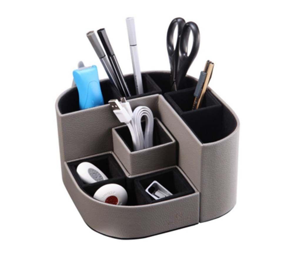 office pen holder. 7 Compartments Desk Organizer For Office School Station Storage Pen Holder Grey #Vlando R
