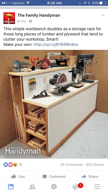 workshop organization tips garage makeover pinterest werkstatt holz und einrichtung. Black Bedroom Furniture Sets. Home Design Ideas