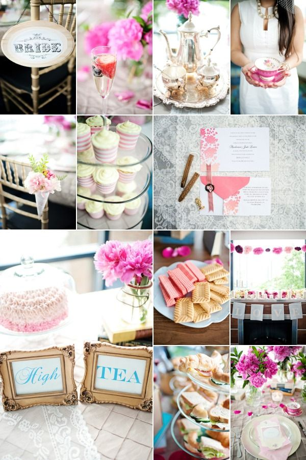 high tea bridal shower cupcakes wedding ideas