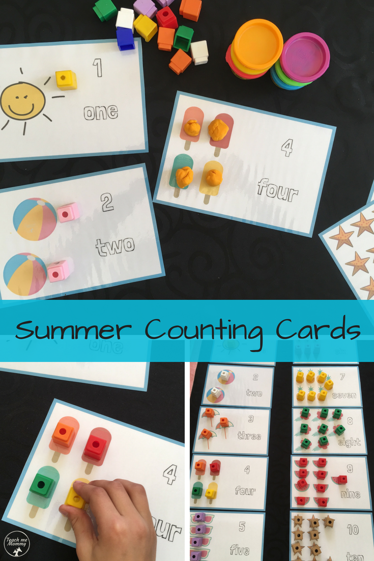 Summer Counting Cards | Math & Number Activities | Pinterest | Play ...
