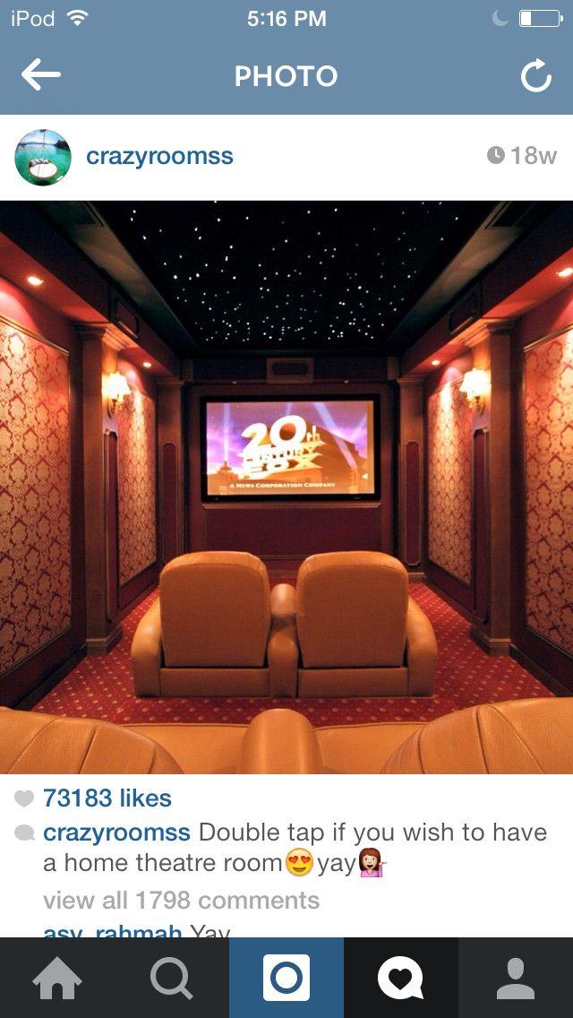 Future home goals. Movie theatre