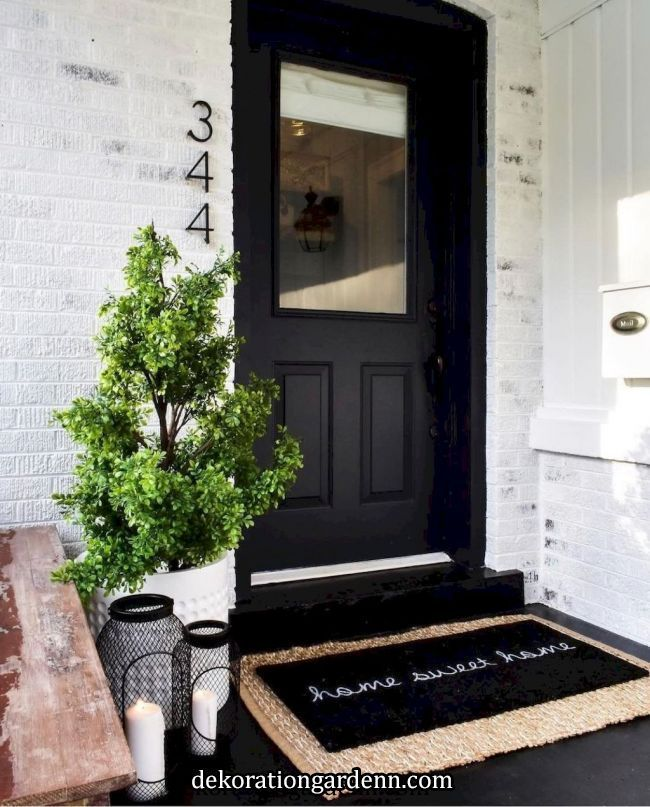 50 Stunning Modern Farmhouse Front Door Entrance Ideas   When renovating the exterior of a house, the front door may not be the top priority, what with so many other pieces landscaping, walkways, roofing to think about. There are many ways in which you can customize your front door, using plants,.. #walkwaystofrontdoor 50 Stunning Modern Farmhouse Front Door Entrance Ideas   When renovating the exterior of a house, the front door may not be the top priority, what with so many other pieces landsc #walkwaystofrontdoor