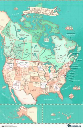 This Map Shows The Literal Meaning Of Every State Name ...