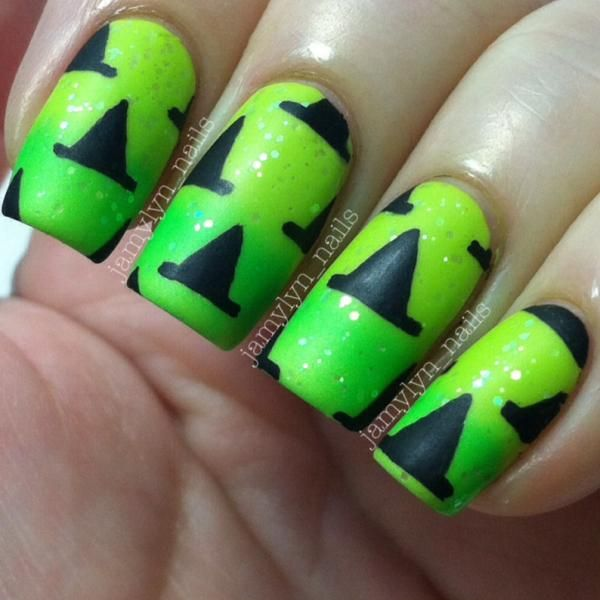 Halloween Nails: Witches Hats @jamylyn_nails | Nails | Pinterest ...
