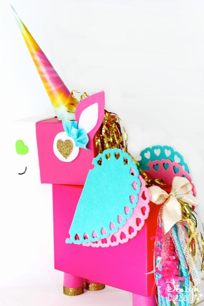 Unicorn Valentine Card Box  Unicorn valentine Unicorns and Box
