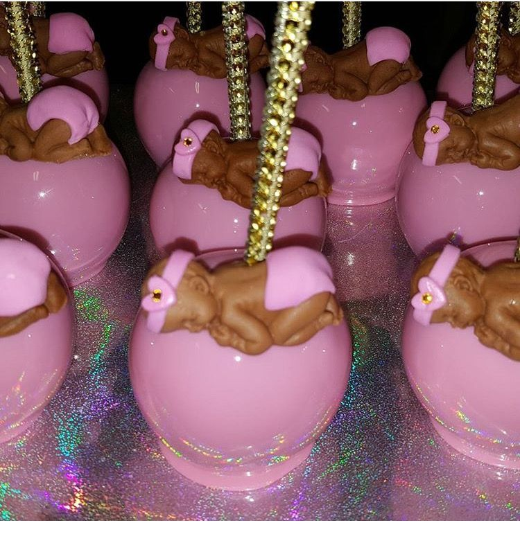 Pink Baby Girl Baby Shower Candy Apples Candy Apples Pinterest