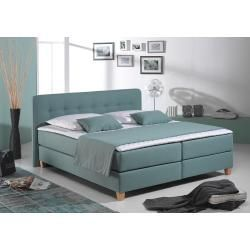 Photo of Lonni bed base with LED lighting, imitation leather – 180 x 200 cm Möbel-Eins-Möbel-Ei – https://pickndecor.com/en