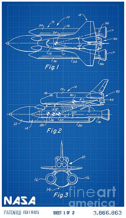1975 nasa space shuttle patent art in white with blue graph paper 1975 nasa space shuttle patent art in white with blue graph paper background malvernweather Images