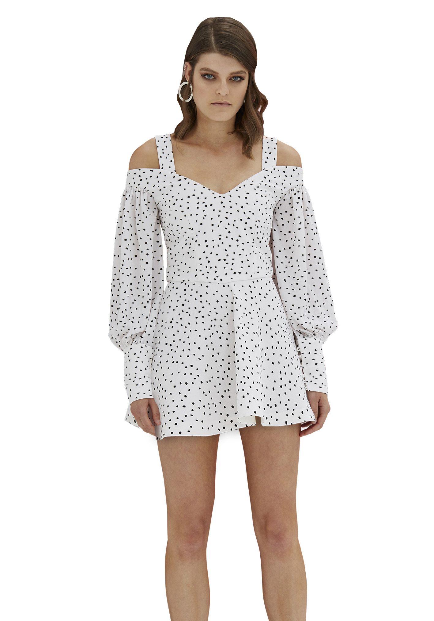 By johnny diana balloon sleeve mini dress contemporary