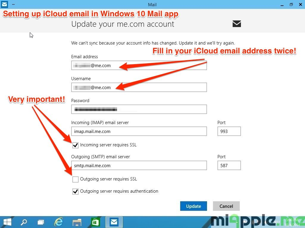 how to fix outlook mail account error codes message