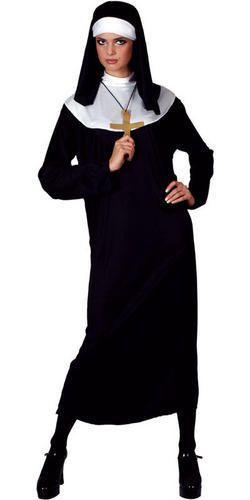 Long Nun Fancy Dress XL UK 22-24 Ladies Plus Size Uniform ...