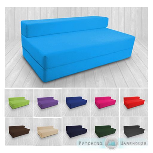 Cotton Twill Z Bed Double Size Fold Out Chairbed Chair Foam Folding Guest Sofa in Home, Furniture & DIY, Furniture, Sofas, Armchairs & Suites | eBay