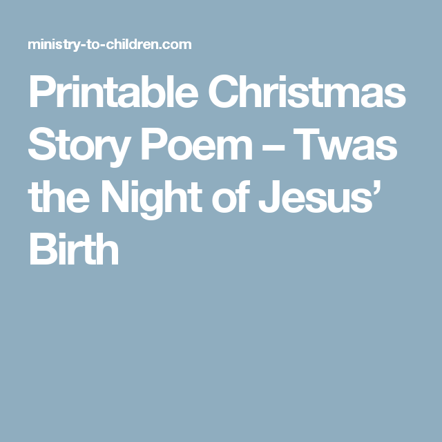 It is a picture of Peaceful Twas the Night Before Jesus Came Printable