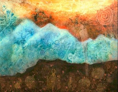 Spirit Mountain Original Contemporary Abstract Mountain Landscape Mixed Media Painting By Contemporary Arizona Artist Pat Stacy Contemporary Landscape Artists Contemporary Art Painting Contemporary Landscape Painting