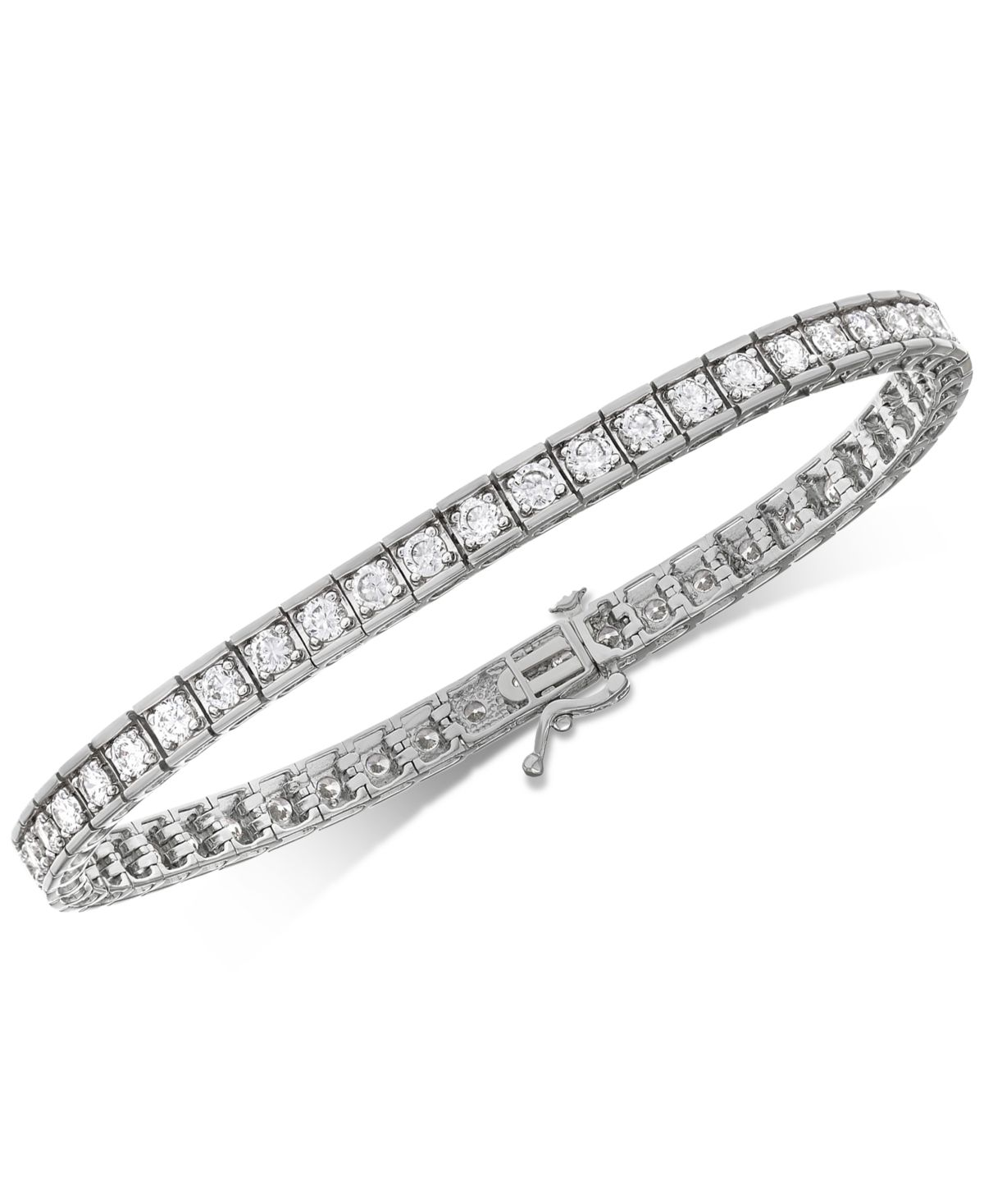 Diamond Tennis Bracelet 4 Ct T W In 10k White Gold White Gold Bracelets Diamond White Gold