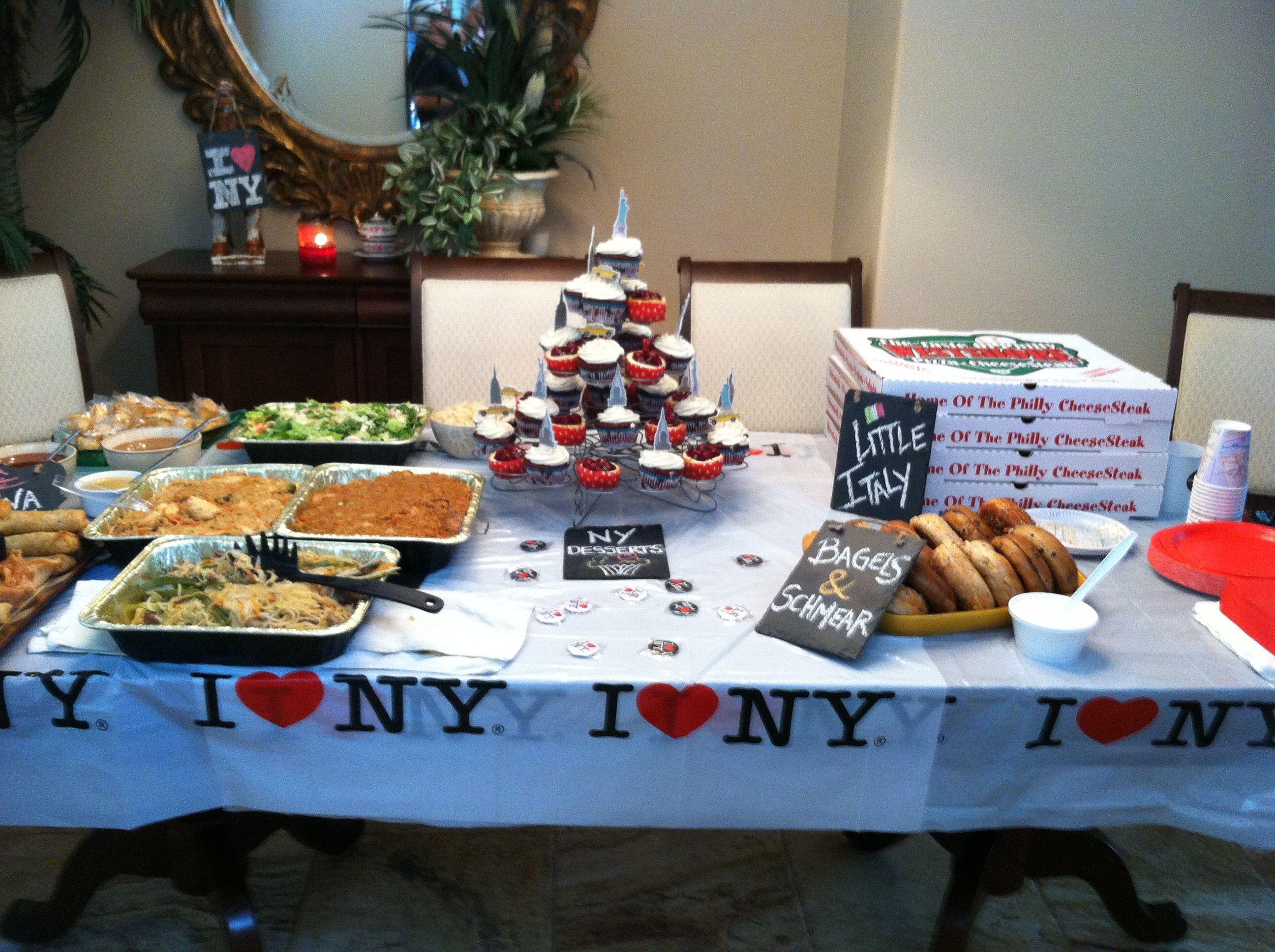 new york themed dinner party
