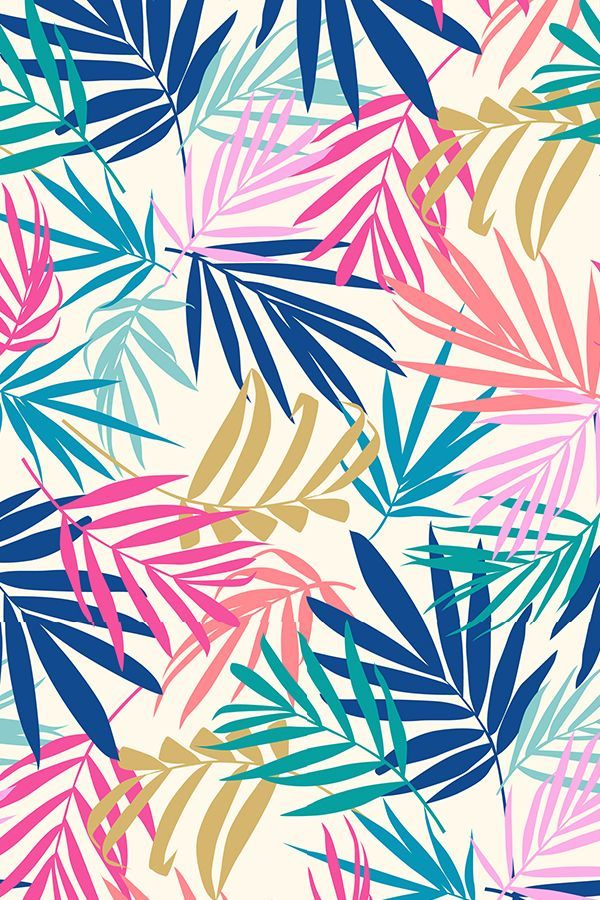 Colorful fabrics digitally printed by Spoonflower - shadow palm 2