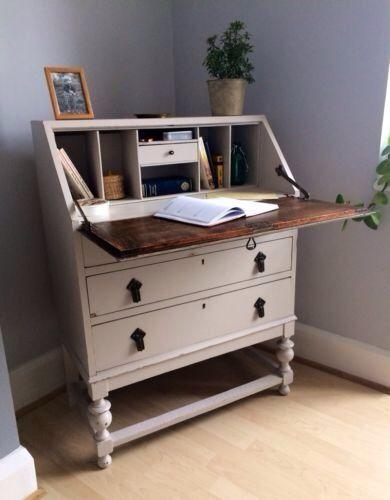 Spiksplinternieuw Details about Pretty Shabby Chic Antique Vintage bureau desk QN-33