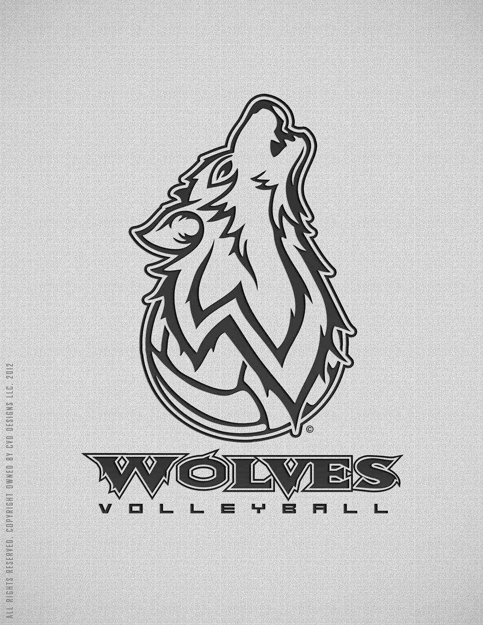 afbc7cf09 Wyoming Wolves volleyball logo design | My Logo Designs | Sports ...
