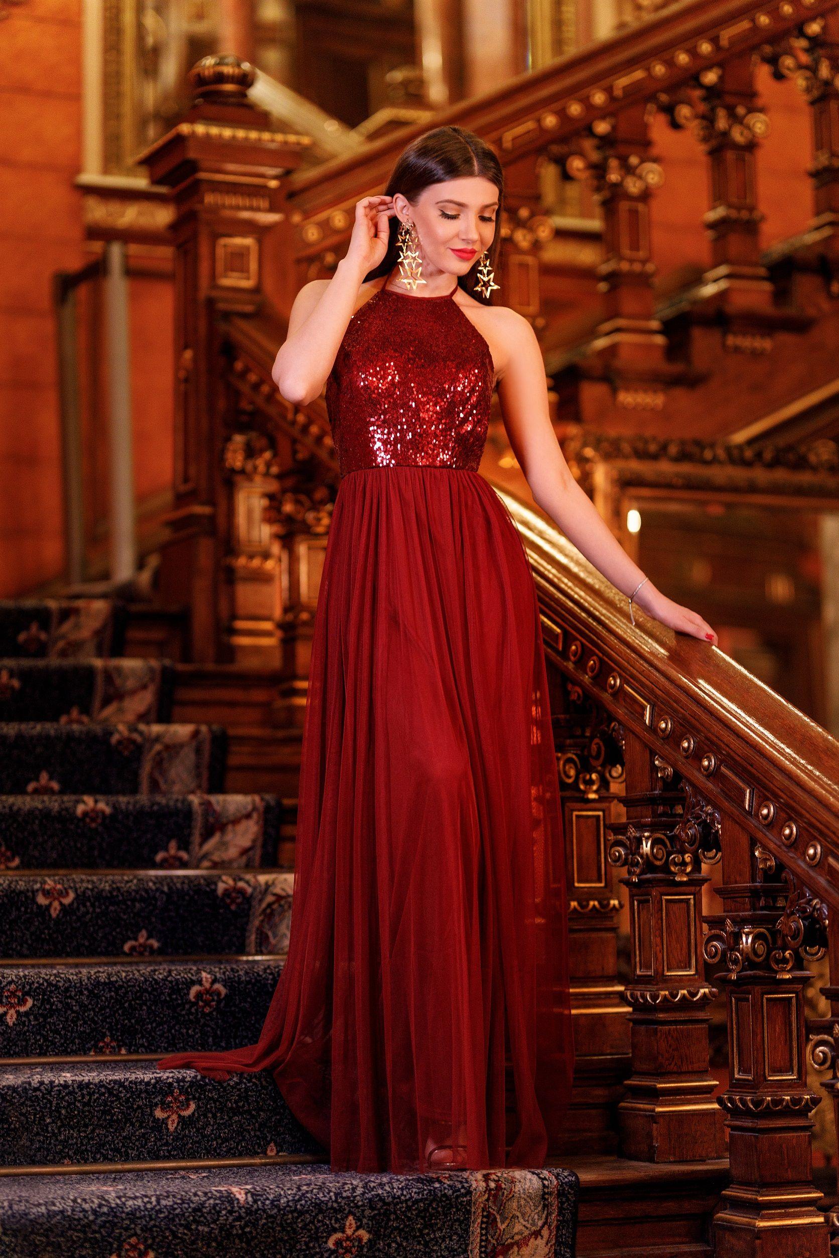 Long Sequin Halter Prom Dress | Ever-Pretty.com #promdress ...