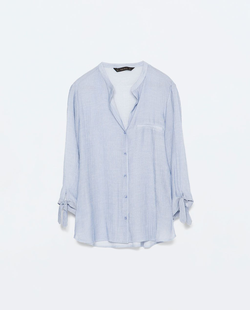 77c78f17 ZARA - WOMAN - STRIPED BLOUSE WITH TIE-SLEEVES | Style inspiration ...