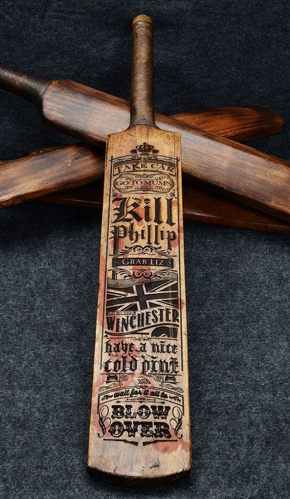 07f659b791fc47e56952dffea2d52233 shaun of the dead laser etched cricket bat by nrmandaradesigns Shaun of the Dead Meme at fashall.co