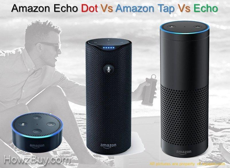 Amazon Echo Dot Vs Tap Vs Echo Comparison Review Amazon Echo Echo Vs Echo Dot Amazon