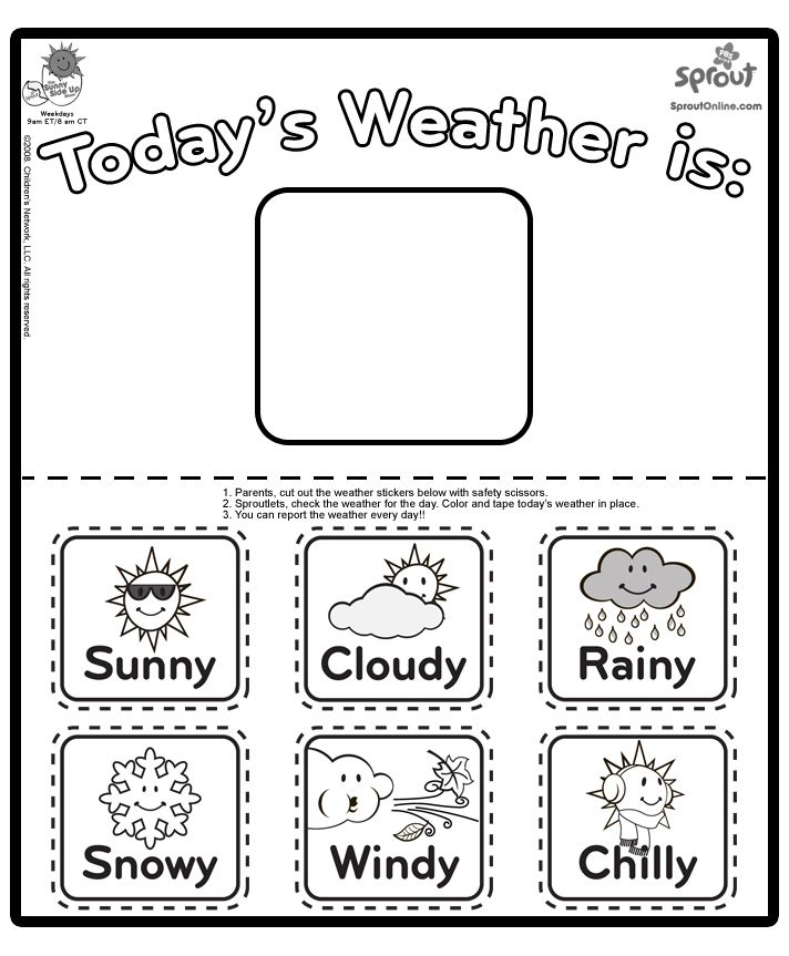 Weather Coloring Chart Preschool Weather Teaching Weather Weather Worksheets