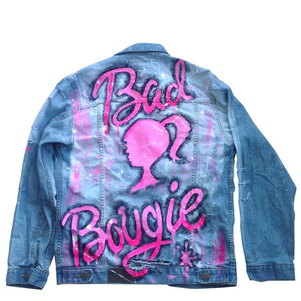 Custom Bad and Bougie Jean Jacket