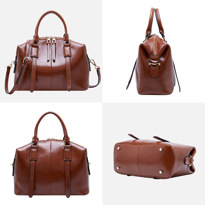 Boyatu ladies leather crossbody bags handbags satchel