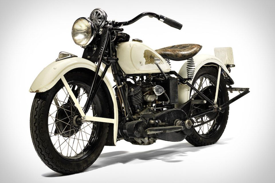 Photo of Steve McQueen's 1934 Indian Sport Scout Motorcycle