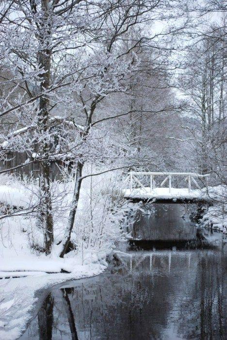 Bridge With Snow Beautiful Snow Scenes Winter