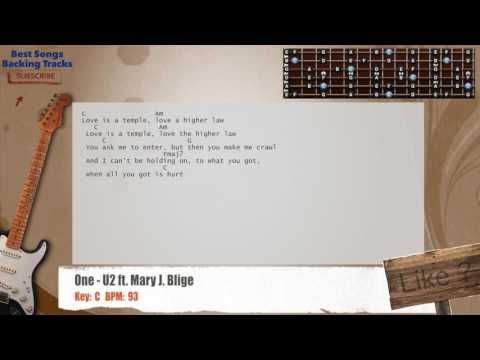 One U2 Ft Mary J Blige Lead Guitar Backing Track With Chords And
