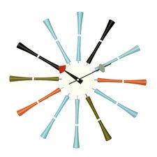 "20"" Spindle Multicolor Wall Clock"