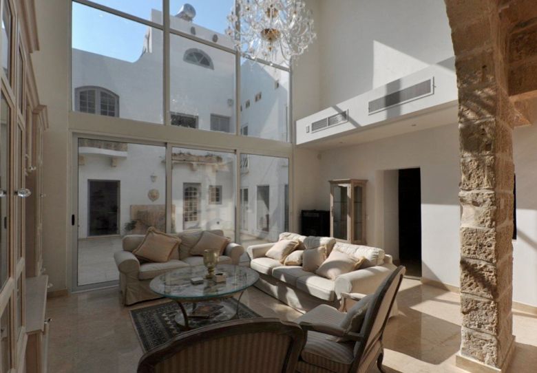 Stunning Living Area Looking Onto The Central Courtyard In This House Of Character Malta