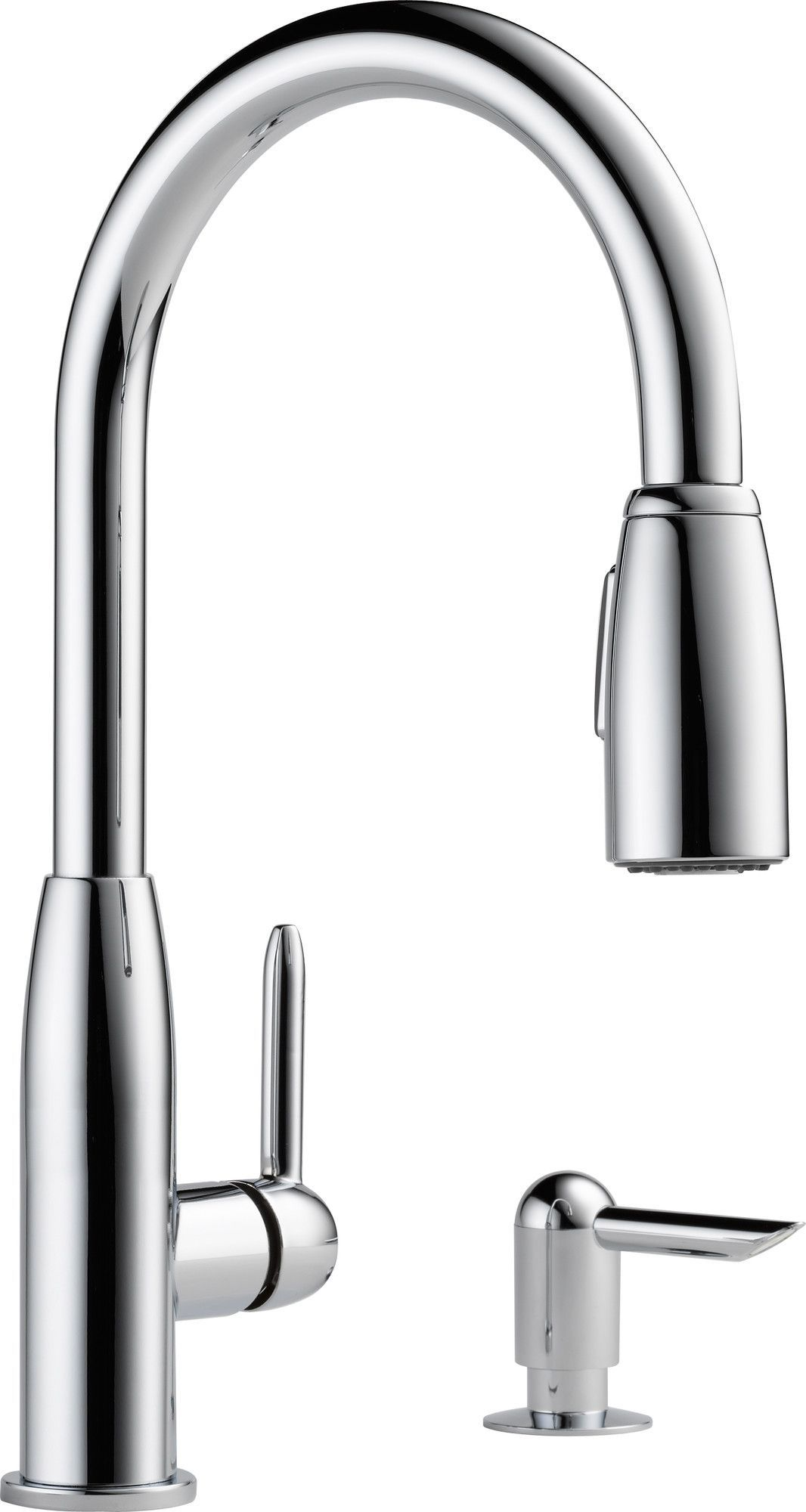 Giagni Fresco Stainless Steel 1 Handle Pull Down Kitchen Faucet