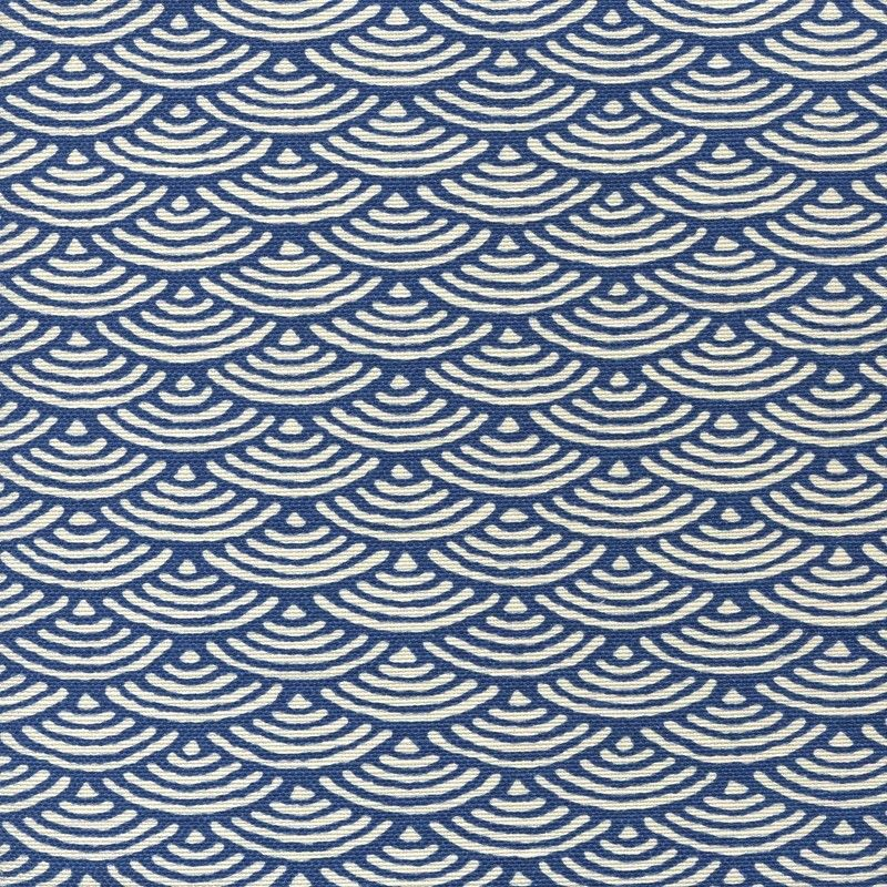 China Seas Seto II Fabric in New Navy on Tint (8180-09). We sell the full line of Quadrille, China Seas, Alan Campbell and Cloth and Paper fabric and wallpaper in our shop. Guaranteed first quality and $10 loan samples offered.