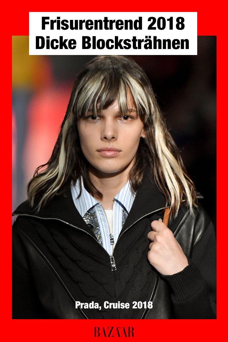Jetzt Trend Breite Blocksträhnen Im Two Toned Look Frisuren