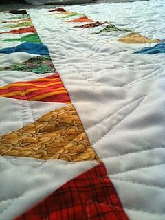 the tutorial for pennant quilt