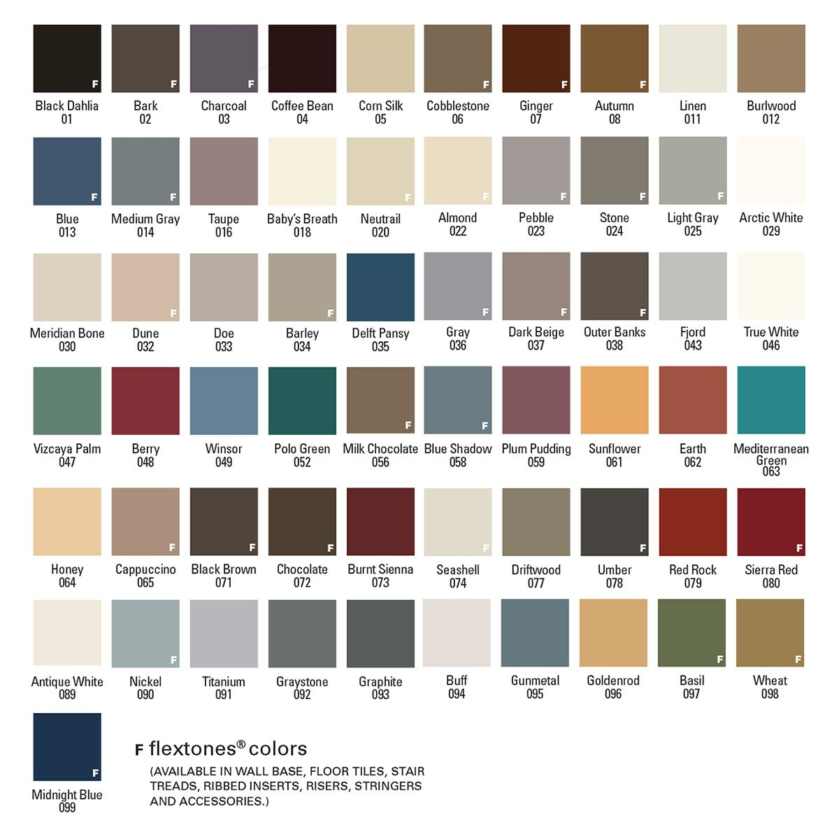 Flexco Rubber Flooring Color Choices At James Carpets Of